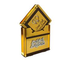 Sevgililer Günü Altın Kaplama Çikolata Kutusu